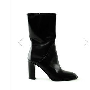 Via Spiga Adrinna Mid-Calf Leather Boot